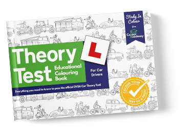 Theory Test Colouring Book Front Cover